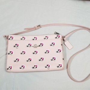 Coach Bags - Coach Pink Floral Crossbody Purse Bag